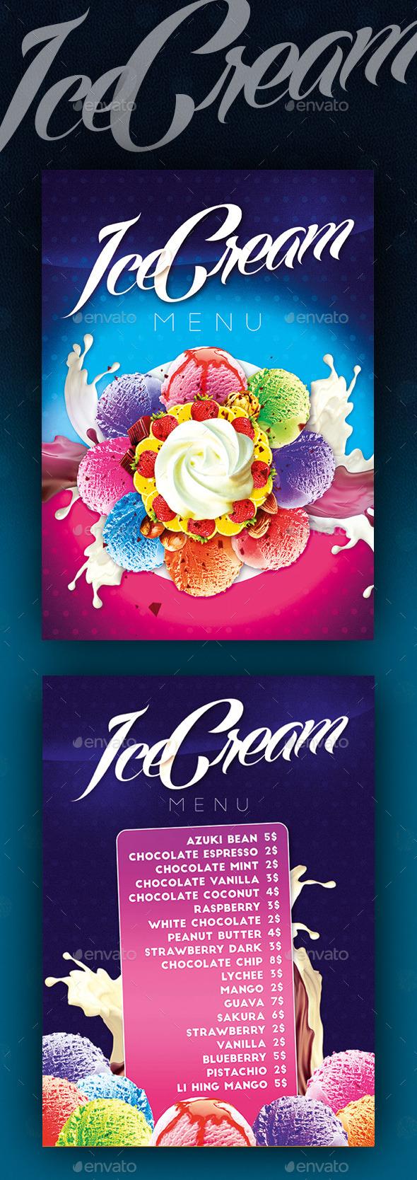 Ice Cream Menu II