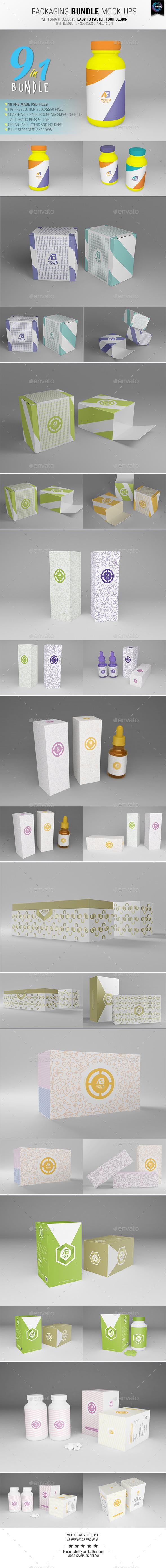 GraphicRiver Packaging Bundle Mock-Ups 11039738