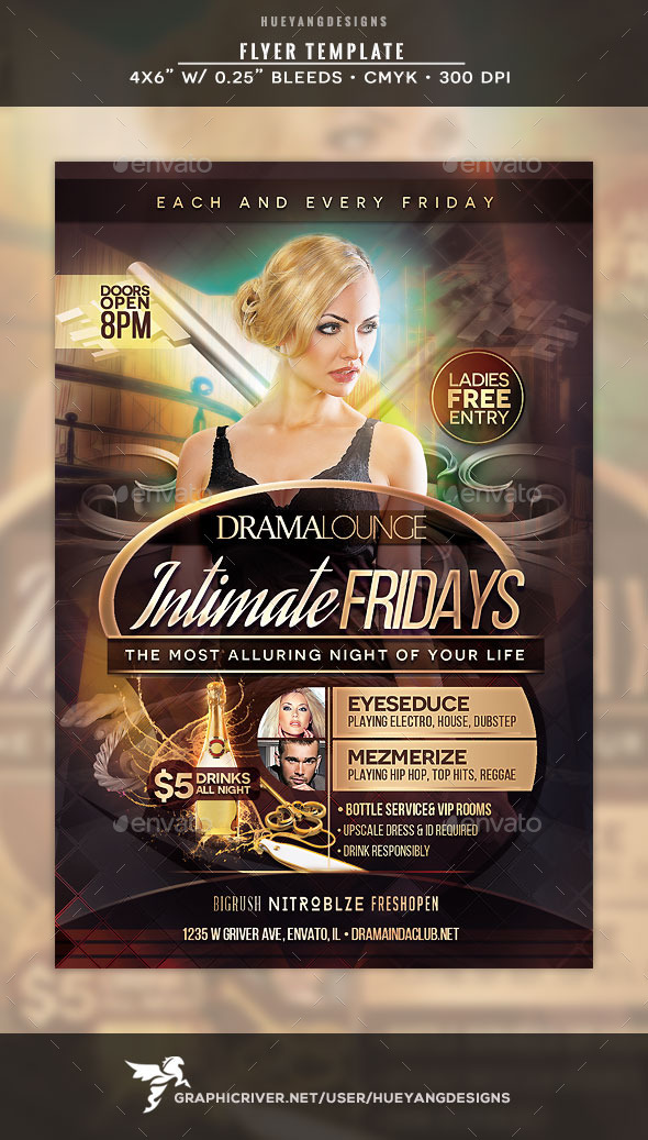 GraphicRiver Intimate Fridays Flyer 11039755