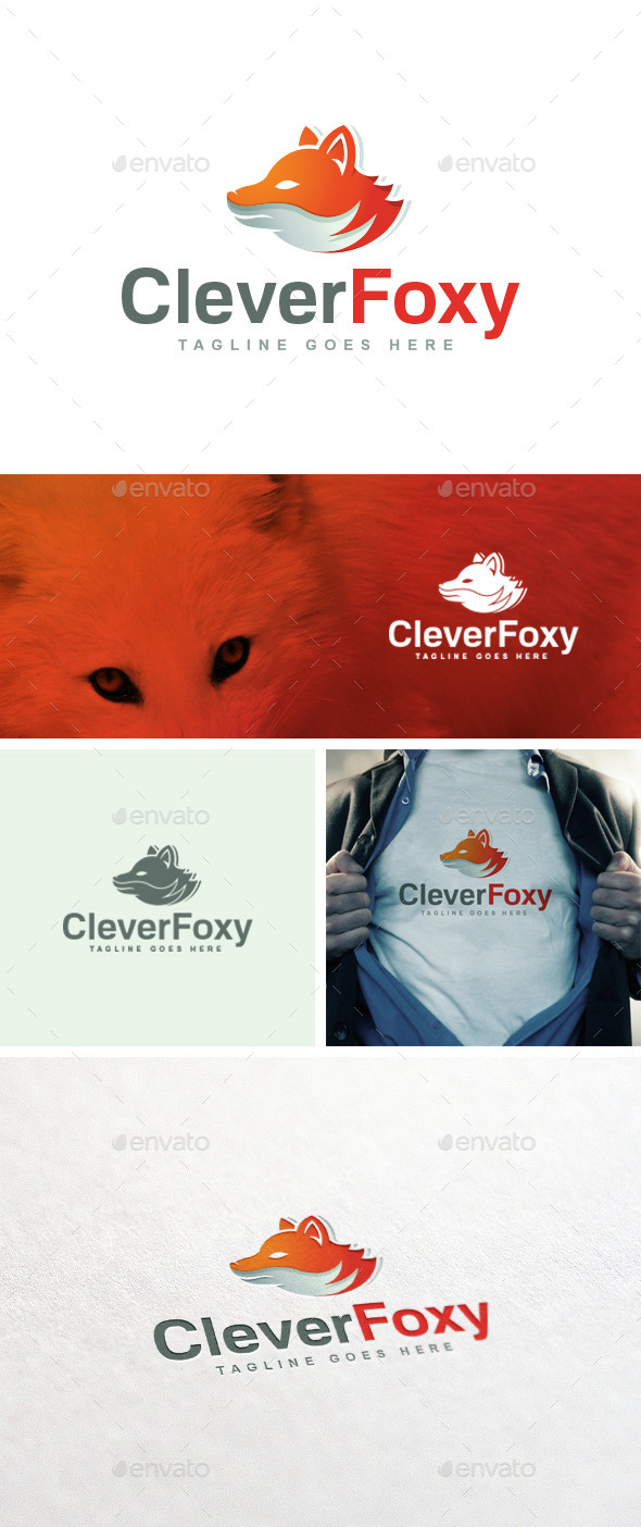 GraphicRiver Clever Foxy Logo Template 11039760