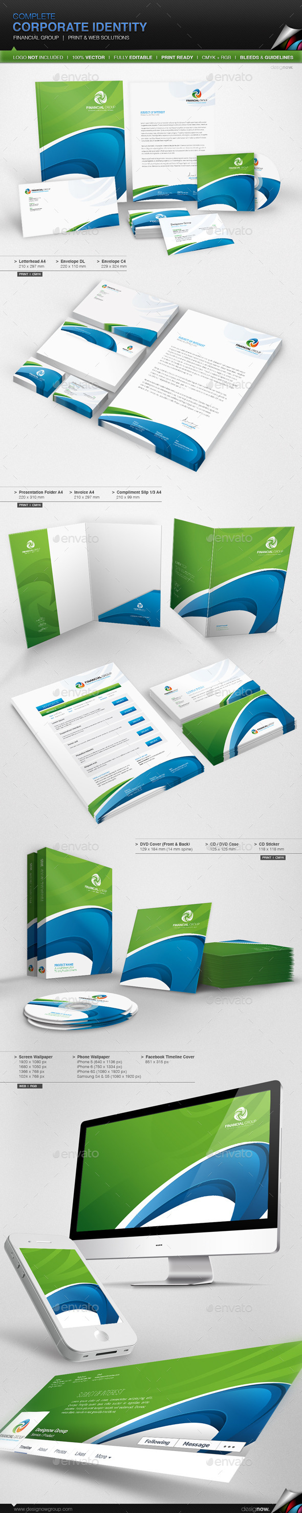 GraphicRiver Corporate Identity Financial Group 11039782