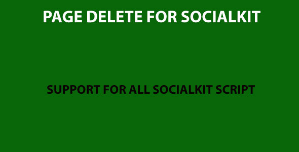 CodeCanyon Page delete for Socialkit 11039785