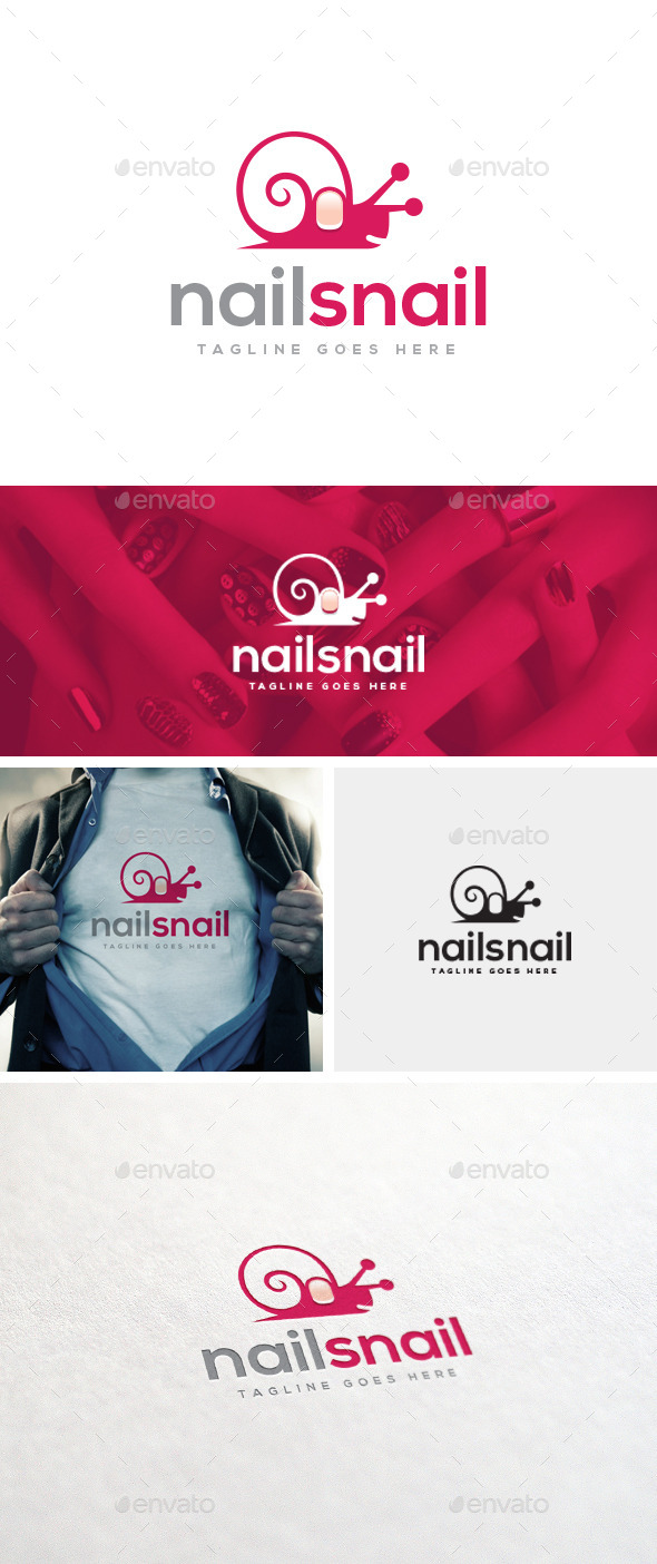 GraphicRiver Nail Snail Logo Template 11040078