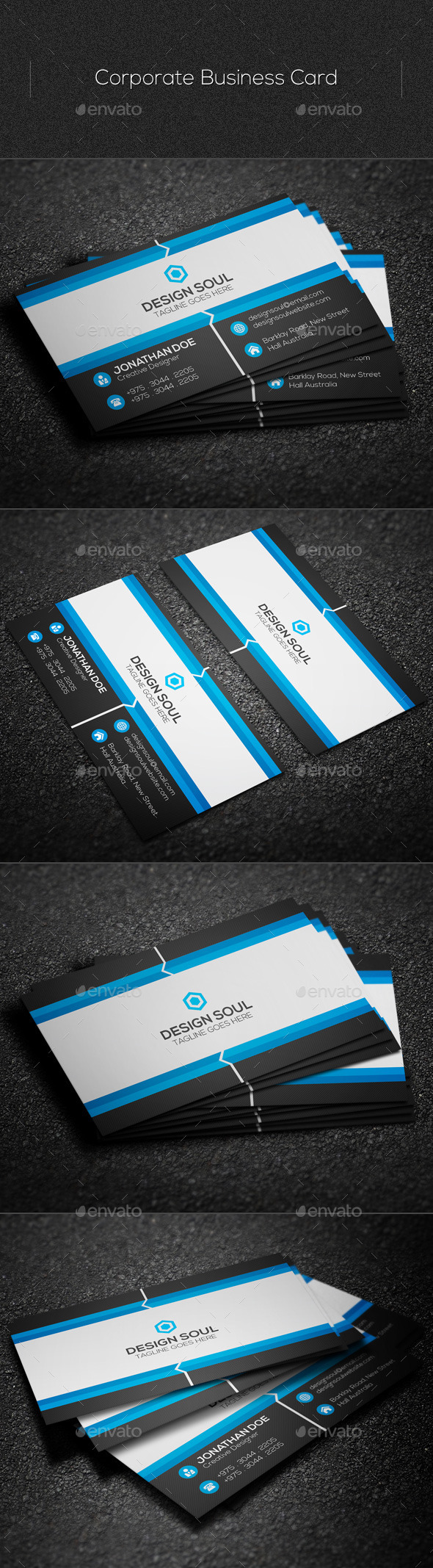 GraphicRiver Corporate Business Card 11040402