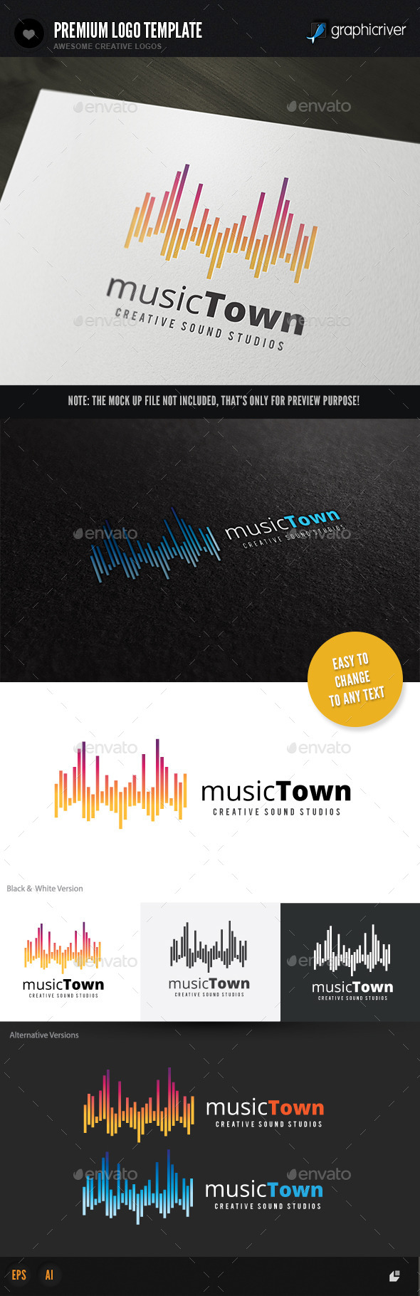 GraphicRiver Music Town 11040470