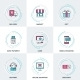 Modern Business and Shopping Line Icons Set - GraphicRiver Item for Sale