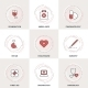 Modern Medicine Line Icons Set - GraphicRiver Item for Sale