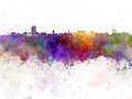 Ann Arbor skyline in watercolor background - PhotoDune Item for Sale