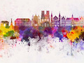 Reims skyline in watercolor background - PhotoDune Item for Sale