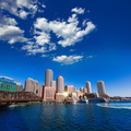 Boston skyline from Fan Pier sunlight Massachusetts - PhotoDune Item for Sale