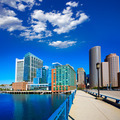 Boston skyline from Seaport boulevard bridge - PhotoDune Item for Sale