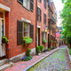 Acorn street Beacon Hill cobblestone Boston - PhotoDune Item for Sale