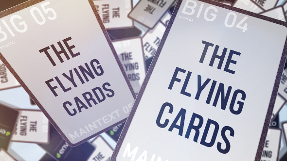VideoHive Flying cards 11041007