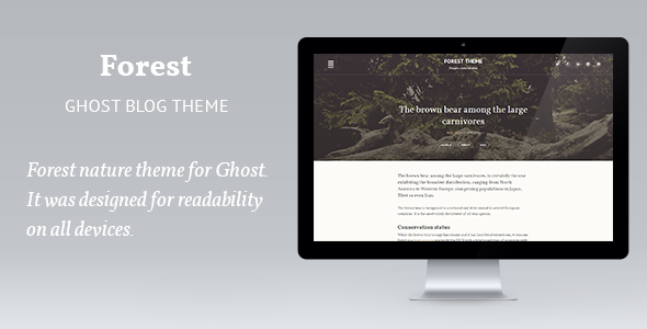 ThemeForest Forest woody theme 11041014