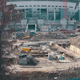 Aerial Shoot Football Stadium Under Construction - VideoHive Item for Sale