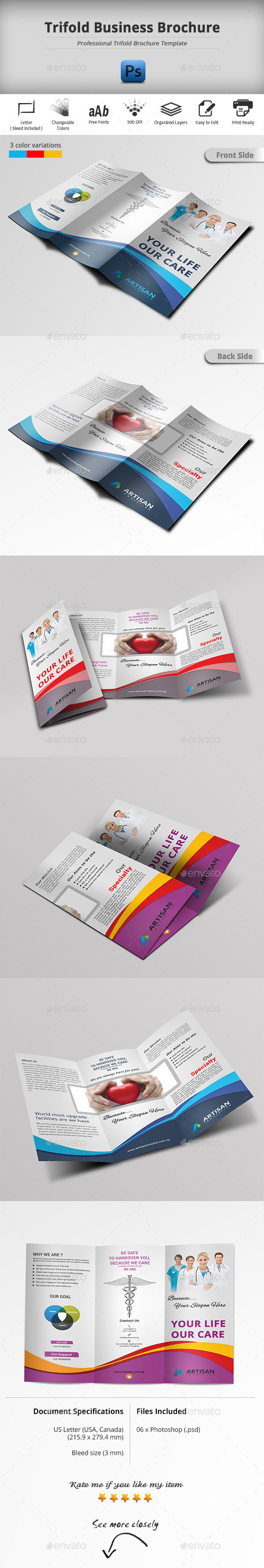 GraphicRiver Trifold Business Brochure 11041136