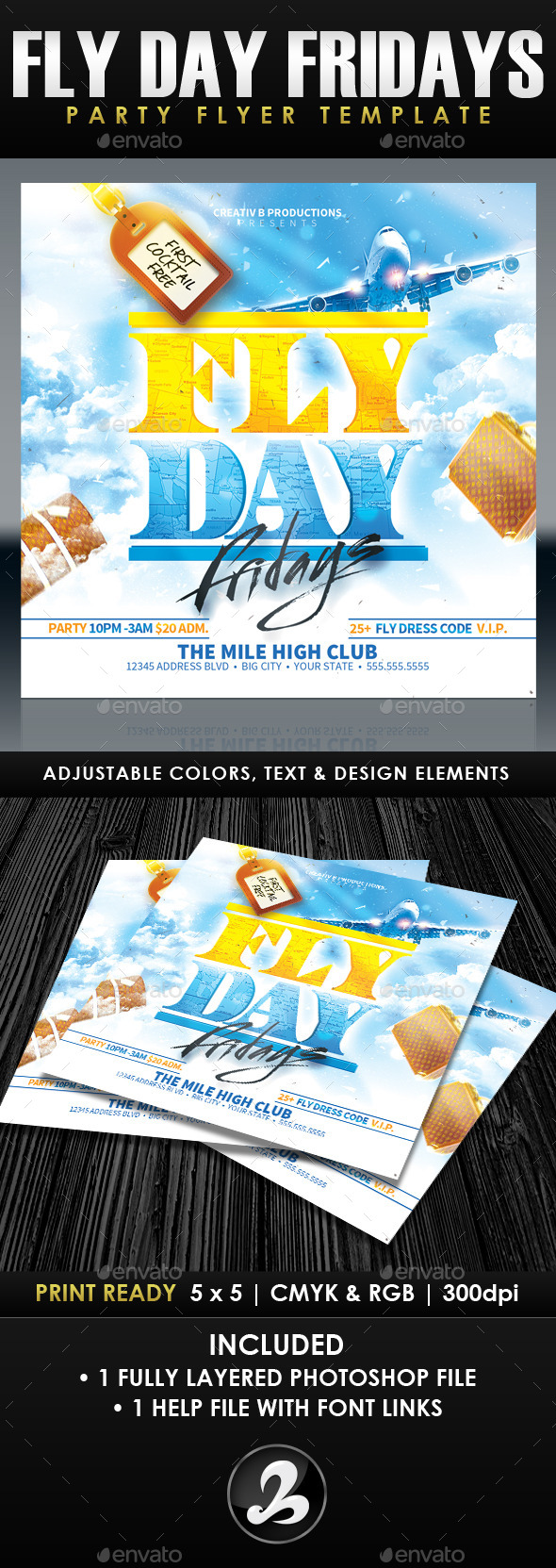 GraphicRiver Fly Day Fridays Party Flyer Template 11041215