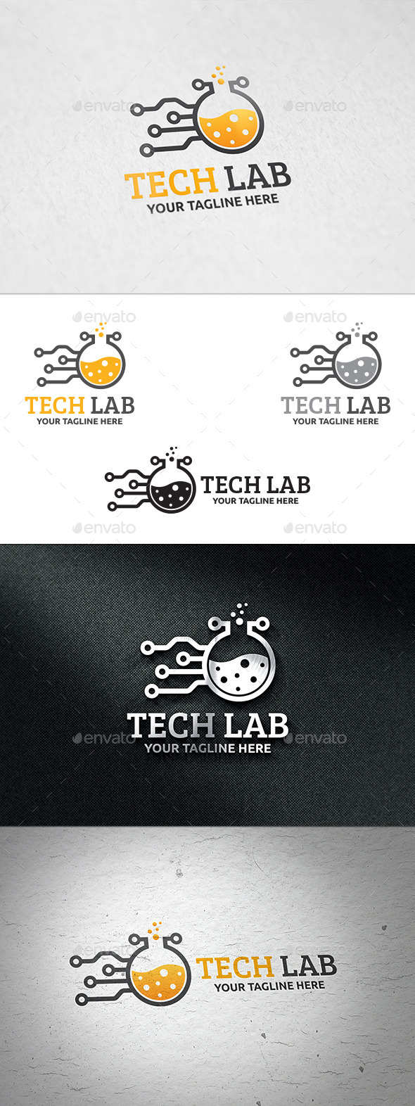 GraphicRiver Tech Lab Logo Template 11041490