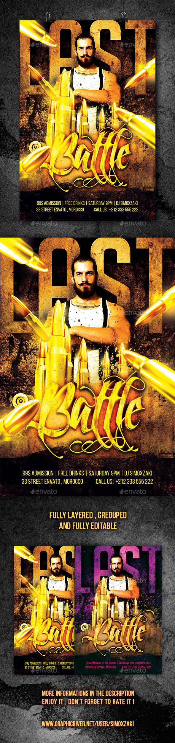GraphicRiver Last Battle Flyer 11041621