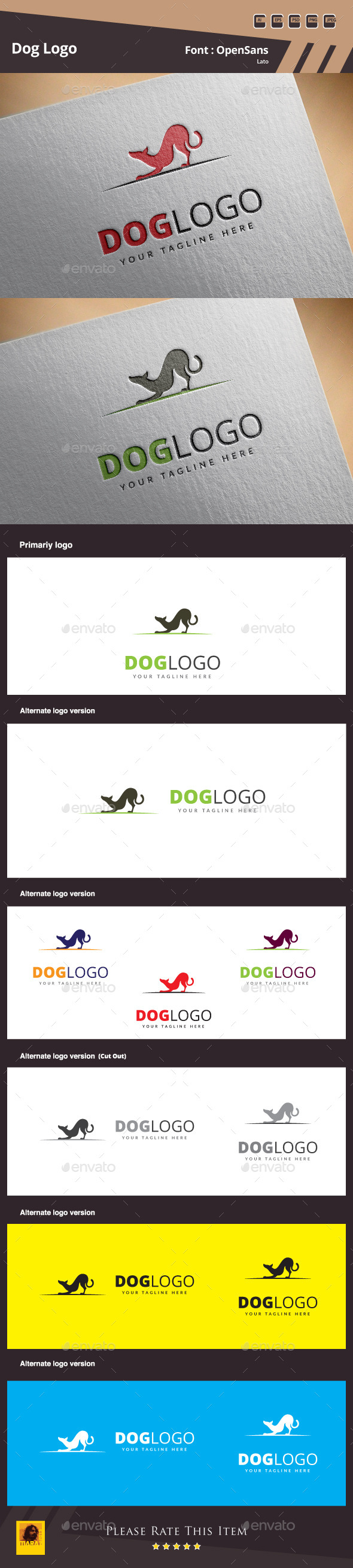 GraphicRiver Dog Logo Template 11042297