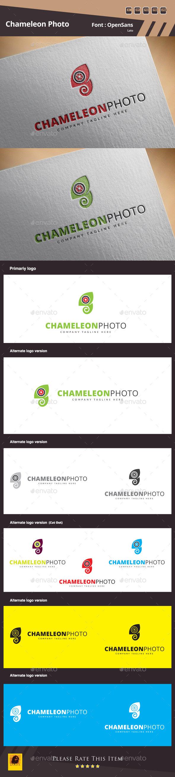 GraphicRiver Chameleon Photo Logo Template 11042347