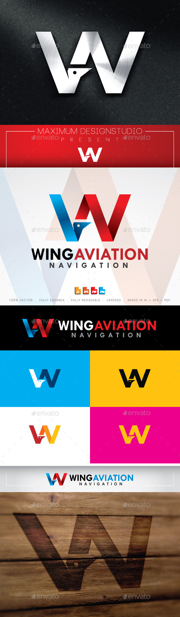 GraphicRiver Wings Aviation Logo 11042454