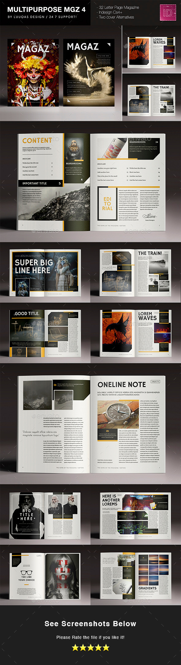 GraphicRiver Multipurpose Magazine 4 11042464