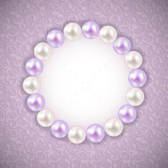 GraphicRiver Vintage Pearl Frame Background 11042480