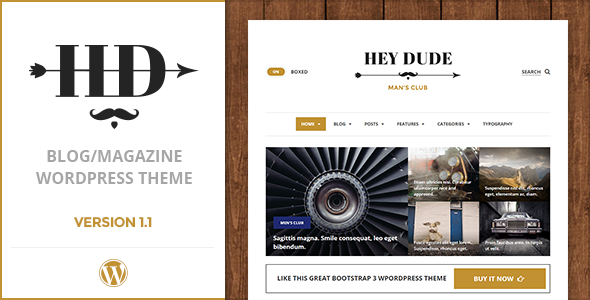 Hey Dude | Magazine, News & Blog WordPress Theme