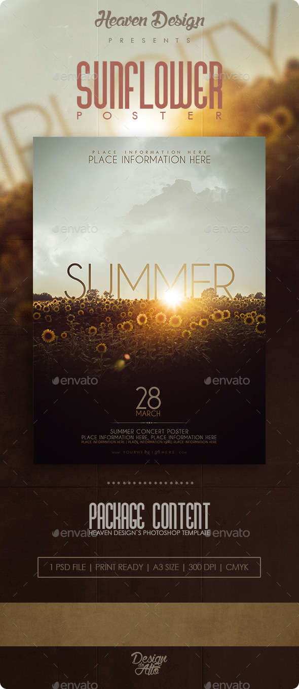GraphicRiver Sunflower Poster 10969959