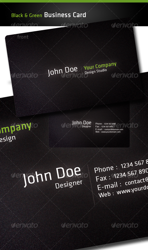 GraphicRiver Black Business Card 45354