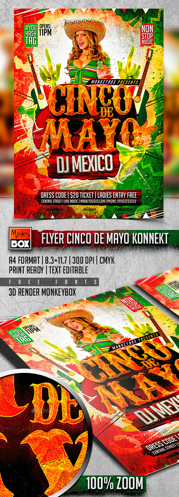 GraphicRiver Flyer Cinco de Mayo Konnekt 11043244