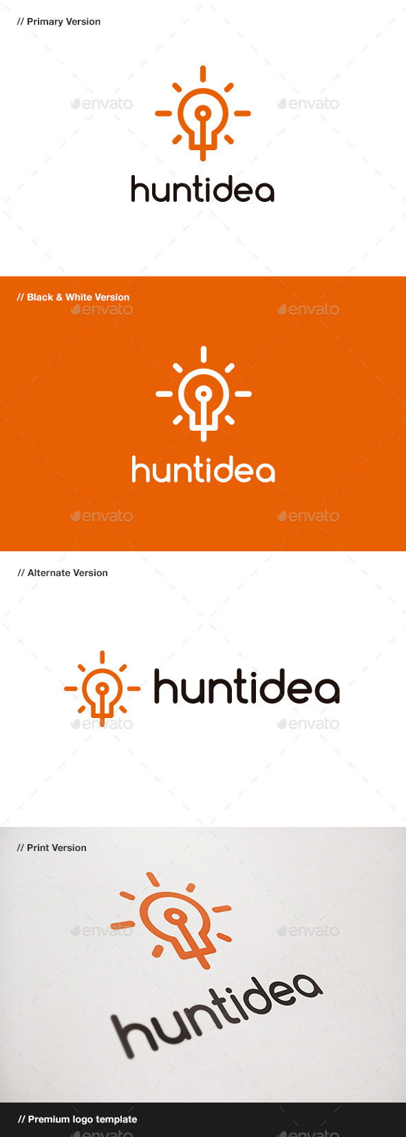 GraphicRiver Hunt Idea Logo 11043409