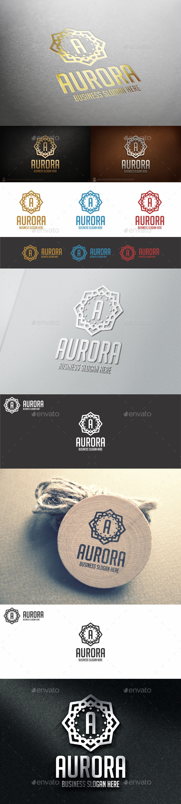 GraphicRiver Aurora Logo Badge Logo Template 11043426