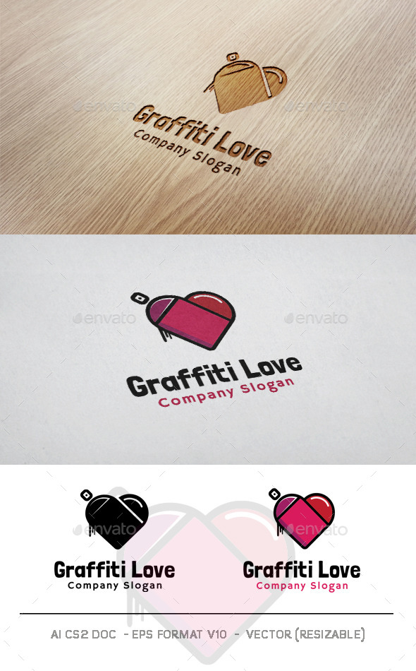GraphicRiver Graffiti Love Logo 11043440
