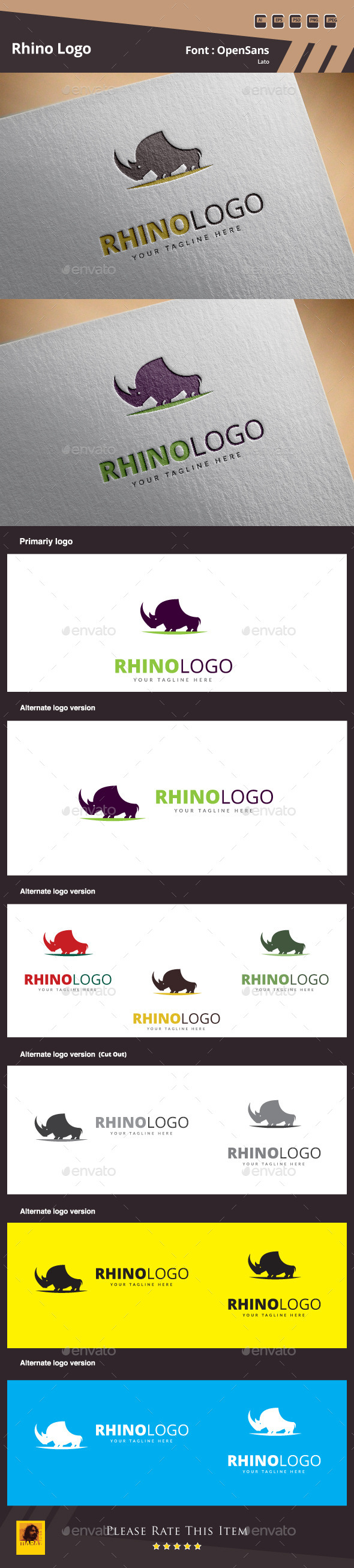 GraphicRiver Rhino Logo Template 11043472