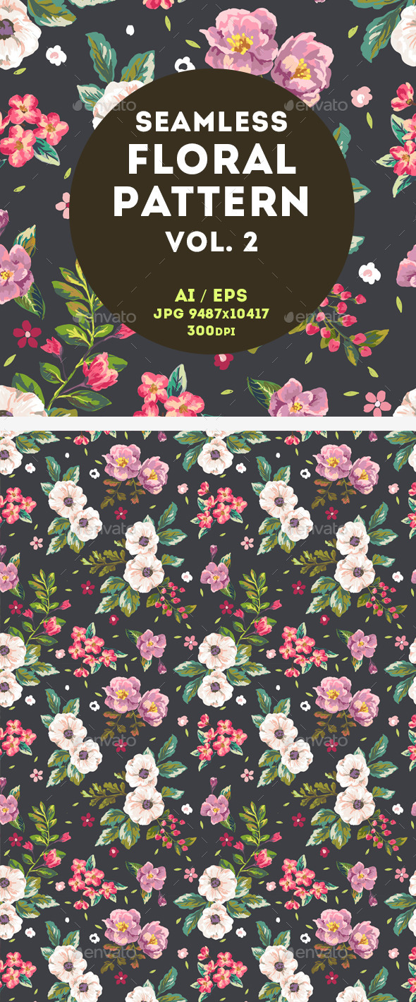 GraphicRiver Floral Pattern 11043904