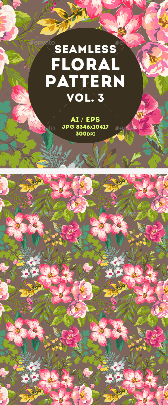 GraphicRiver Floral Pattern 11044111