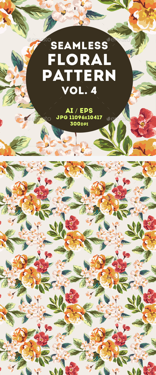 GraphicRiver Floral Pattern 11044279