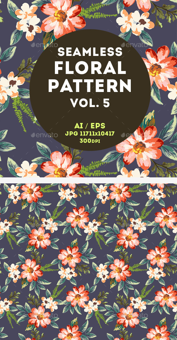 GraphicRiver Floral Pattern 11044783