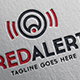 Red Alert Letter A Logo - GraphicRiver Item for Sale