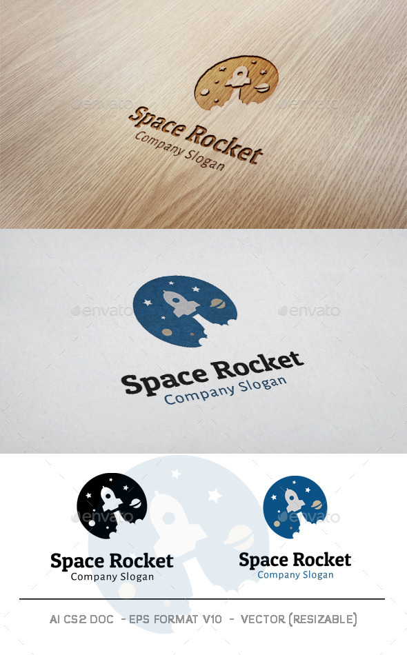 GraphicRiver Space Rocket Logo 11044800