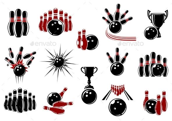 GraphicRiver Bowling Symbols 11044861