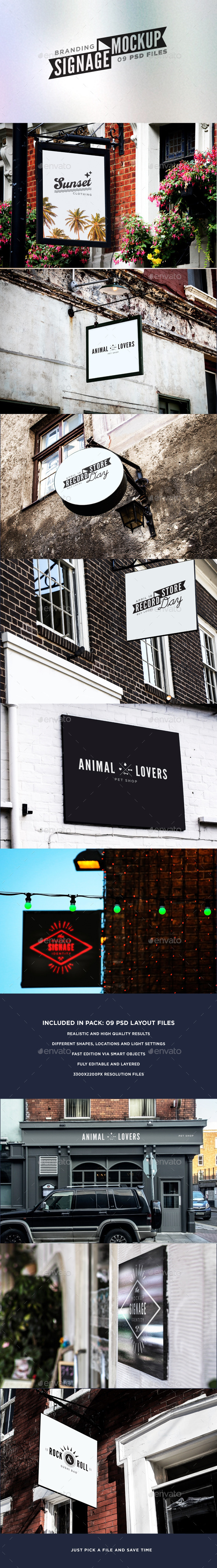 GraphicRiver Signage & Facade Mock Up 11044878