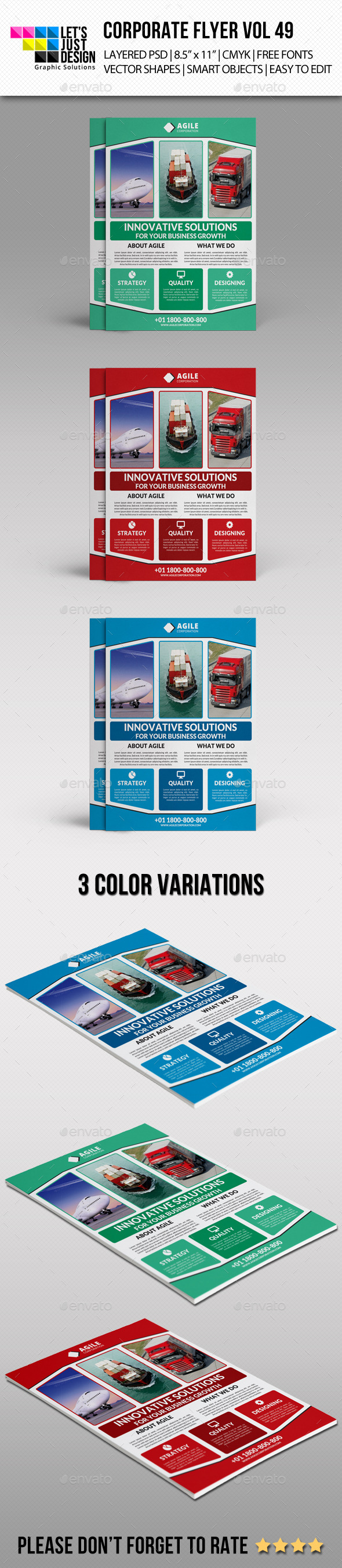 GraphicRiver Corporate Flyer Template Vol 49 11044989