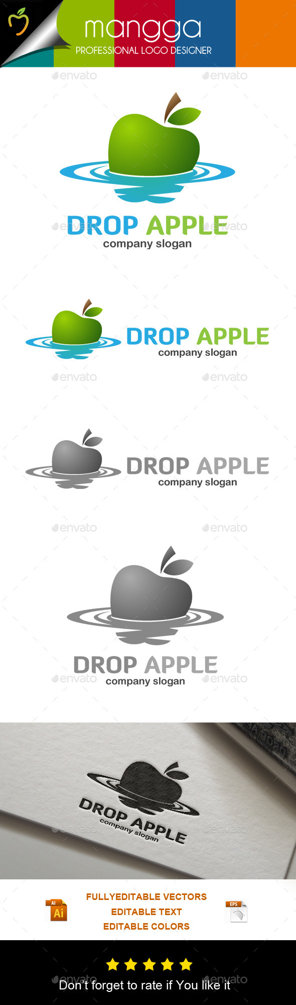 GraphicRiver Drop Apple Logo 11045258