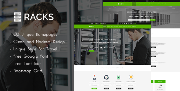 ThemeForest Racks Web Hosting PSD Template 11045310