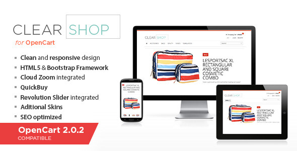 Clearshop - Responsive OpenCart theme - OpenCart eCommerce