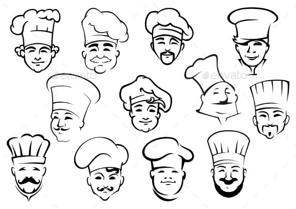 GraphicRiver Multiethnic Chefs 11045439