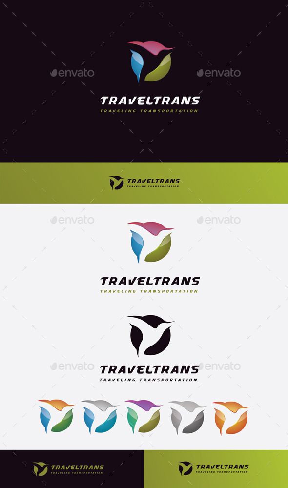 GraphicRiver Transport Travel Logo 11045537